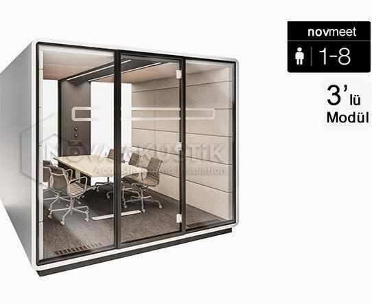 8 kişilik akustik toplantı odası kabini