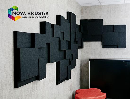 akustik 3d ses yalitim paneli