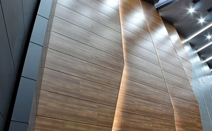 akustik ahşap düz mdf lam panel