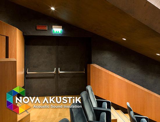 akustik ahşap kapı