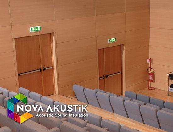 akustik ahşap ses geçirmez kapıları