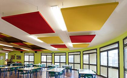 akustik kumaş kaplı yüzer tavan paneli üreticisi