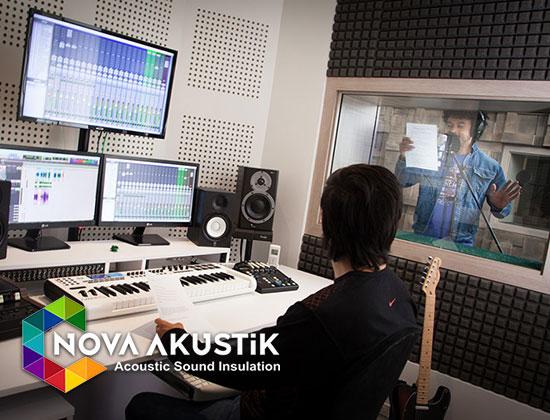 akustik kesik ses kayıt odası uygulama