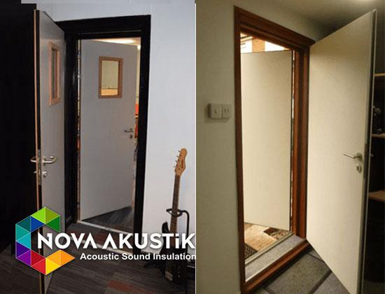 akustik ses geçirmez izole kapı