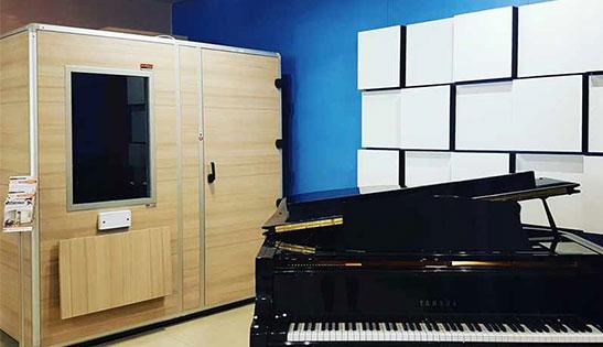 akustik ses gecirmez stüdyo piyano kabini