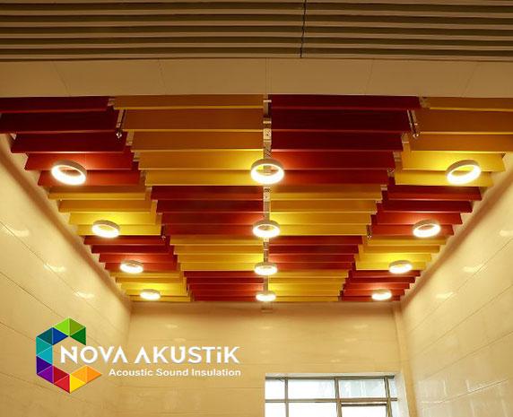akustik tavan paneli baffle