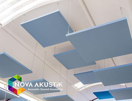 akustik tavan paneli bulut sistem