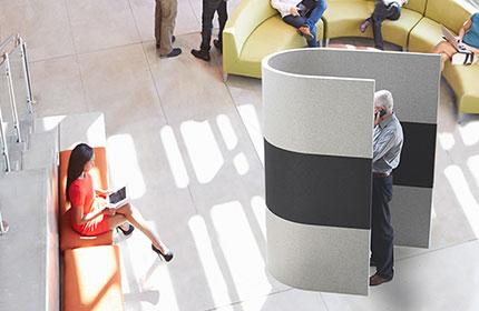 akustik telefon görüşme kabini