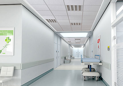 Hygiene Cam Yünü Akustik Asma Tavan Paneli