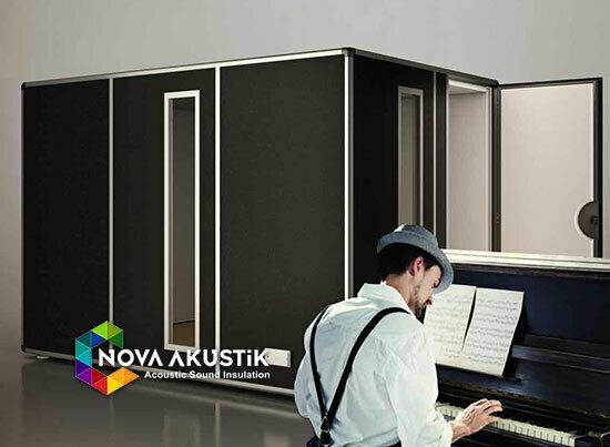 piyano odası akustik ses geçirmez kabin